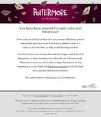 Pottermore Acceso Temprano