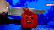 Mark the Red Pepper being knifed