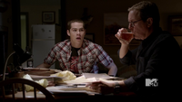 Stiles gets dad drunk