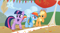Applejack and Dash share some laughs