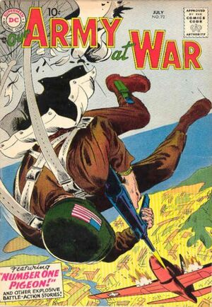 Cover for Our Army at War #72