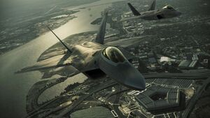 F-22s over pentagon