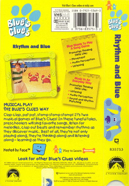 Rhythm And Blue Blue S Clues Wiki