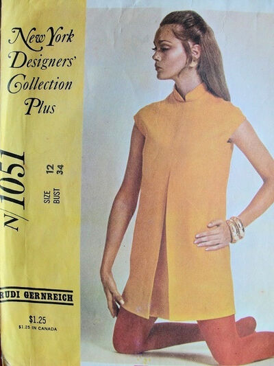 McCall's 1051 by Rudi Gernreich, 1960s mod dress pattern