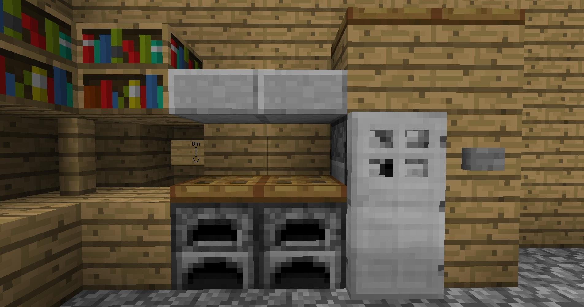 Kitchen minecraftdesign wiki for Minecraft kitchen ideas