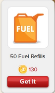 50 Fuel Refills Rewardville unlocked