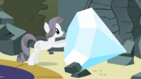 "Rarity with her ""diamond"" S2E1"