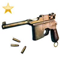 Huge item pantucci pistol gold 01