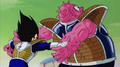 Dodoria holded tight by Vegeta