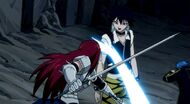 Erza fights Midnight