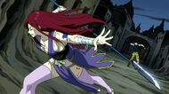 Erza breaks Midnight&#39;s illusion