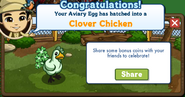 Clover Chicken Aviary Egg Growth Message