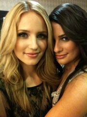 Glee Dianna and Lea