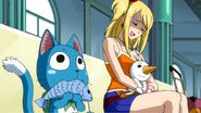 Happy and Lucy watches Gray and Natsu&#39;s fight