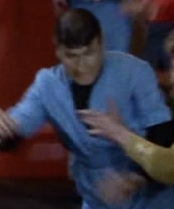 Bill Catching Spock