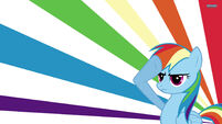Rainbow Dash saluting