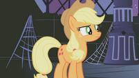 Applejack questioning the sixth element's spark S1E02