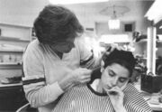 Kirstie Alley sleeping in makeup chair