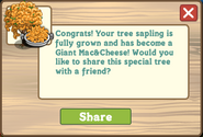 Giant Mac&Cheese Tree Message