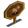 Gelbvieh Cow Mastery Sign-icon