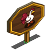 Red Heart Chicken Mastery Sign-icon
