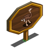 Female Ostrich Mastery Sign-icon