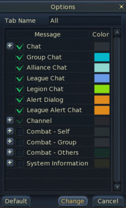 All chat options
