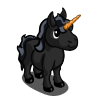 Black Mini Unicorn-icon