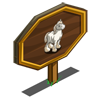 White Shire Horse Mastery Sign-icon