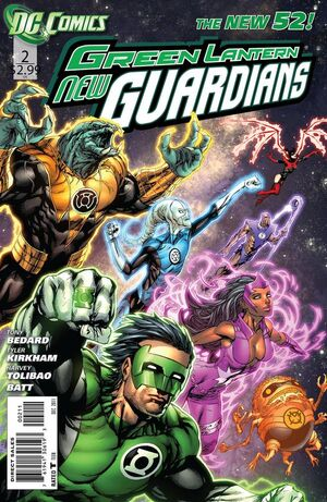 Cover for Green Lantern: New Guardians #2