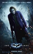 Dark knight joker heath ledger poster