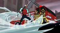 Aqualad uses hydrokinesis