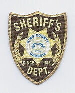 Kings County Georgia Sheriff Sleeve Patch
