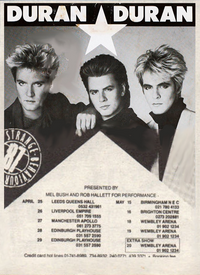 Poster tour duran duran 1987 strange behaviour