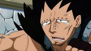 Gajeel being dramatic
