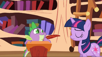 Twilight shaking her head S2E3