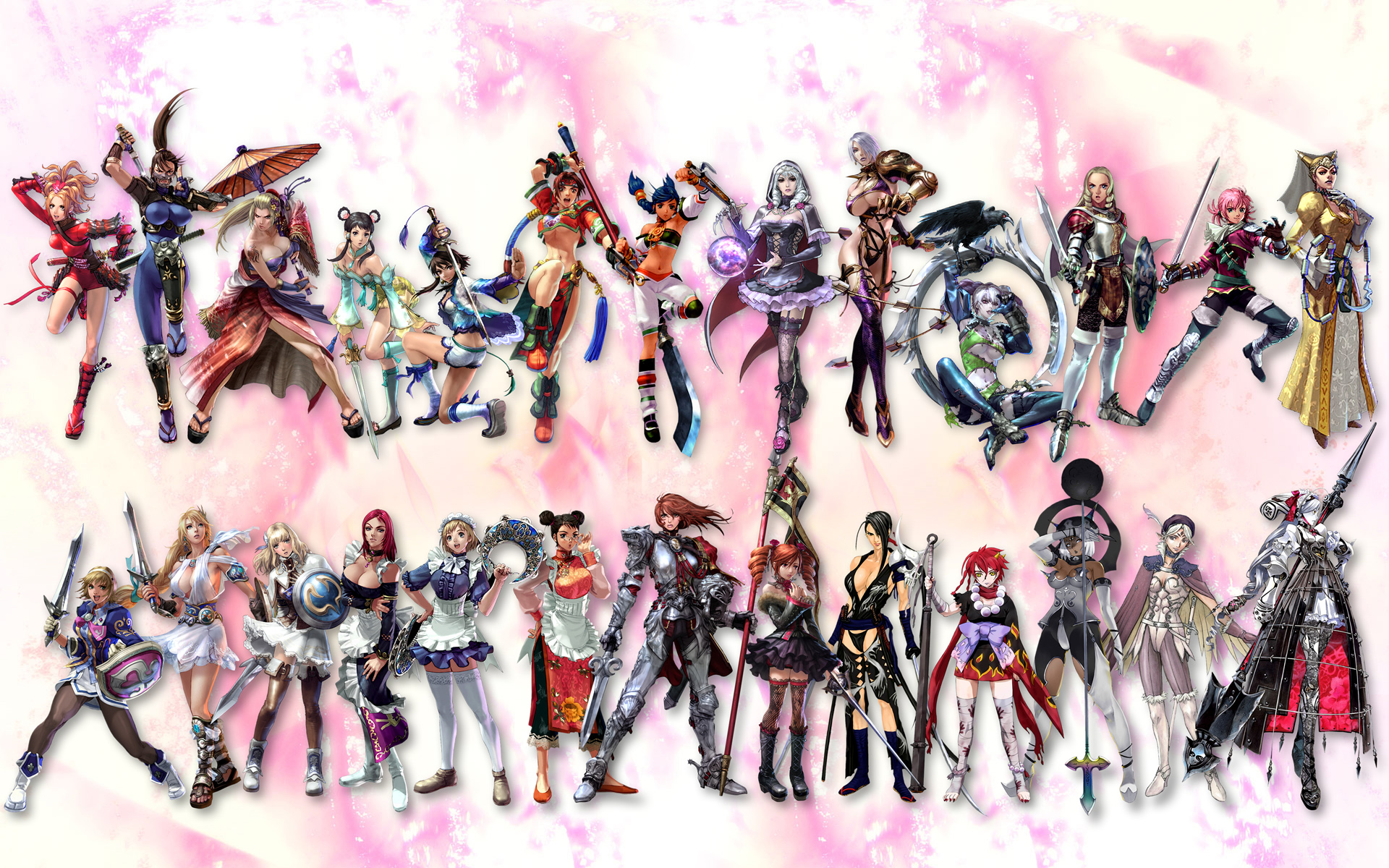 Image - Soul Calibur All Characters-F jpg - The Soulcalibur Wiki    Soul Calibur 1 Characters