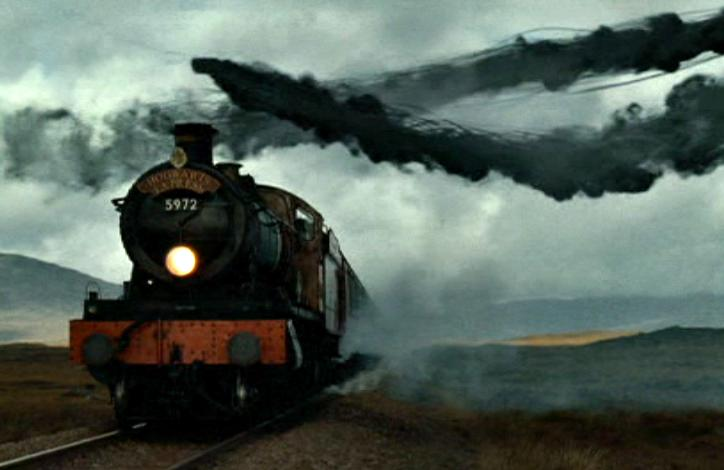 Foto bij Hogwarts express