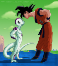 Goku and Freeza by shadsonic2