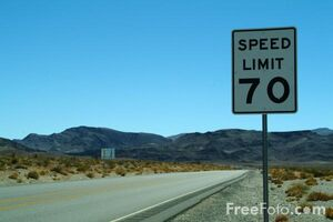 1216 07 33---Speed-Limit-70-Sign--Route-95--Nevada--USA web