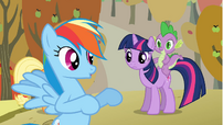 Twilight listening to Rainbow Dash S01E13