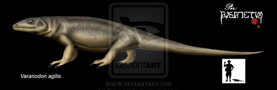 Varanodon agilis by Theropsida