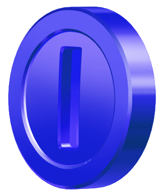 mario kart blue coin