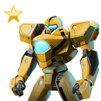 Huge item life-sizerobot gold 01