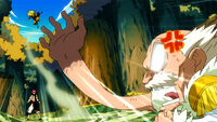 Makarov anger at Natsu