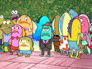 Public access fish encyclopedia spongebobia the for Spongebob characters fish