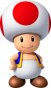 NSMBW Artwork Toad