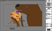 Modelsheet stag lickinggooeypeppermintbutler - specialpose