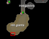Edgeville Dungeon hill giant resource dungeon location