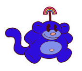 Blue rainbow monkey1